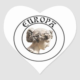 Europa: Be Proud to Show your Euro Roots! Heart Sticker