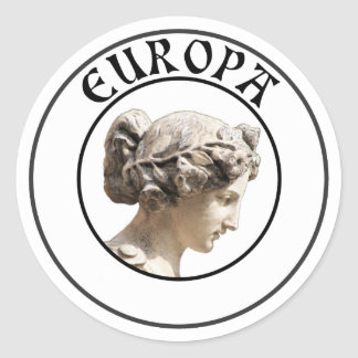 Europa: Be Proud to Show your Euro Roots! Round Sticker