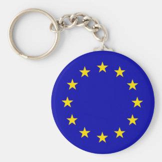 Europa Flag Basic Round Button Key Ring