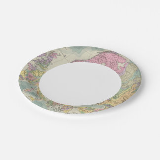 Europa - Geologic Map of Europe 7 Inch Paper Plate