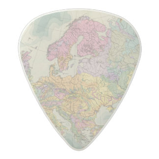 Europa - Geologic Map of Europe Acetal Guitar Pick
