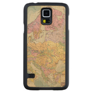 Europa - Geologic Map of Europe Carved Maple Galaxy S5 Case