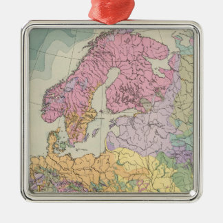 Europa - Geologic Map of Europe Christmas Ornament
