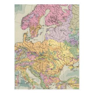 Europa - Geologic Map of Europe Postcards