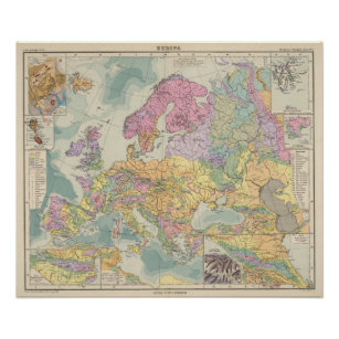 Europa - Geologic Map of Europe Poster