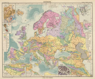Geologic Map Of Europe.Geological Map Gifts Gift Ideas Zazzle Uk