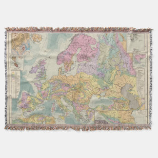 Europa - Geologic Map of Europe Throw Blanket