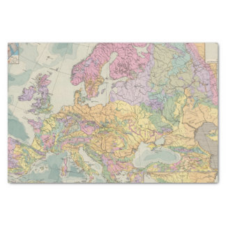 Europa - Geologic Map of Europe Tissue Paper