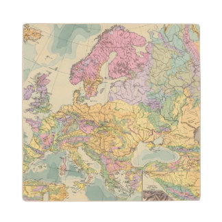 Europa - Geologic Map of Europe Wood Coaster