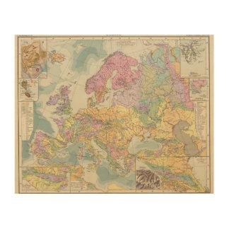 Europa - Geologic Map of Europe Wood Print