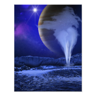 Europa Jupiter Moon Space Art Photographic Print