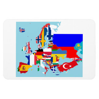 EUROPA MAP RECTANGULAR PHOTO MAGNET