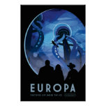 Europa Space Travel Poster