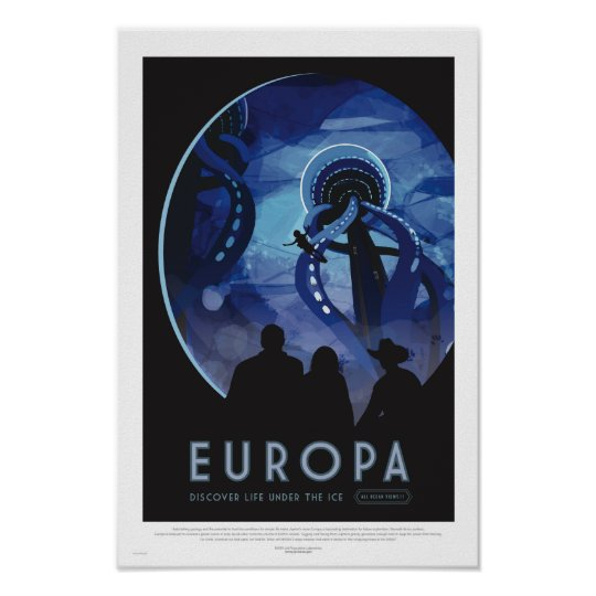 Europa Tour - Retro Space Travel Art Poster