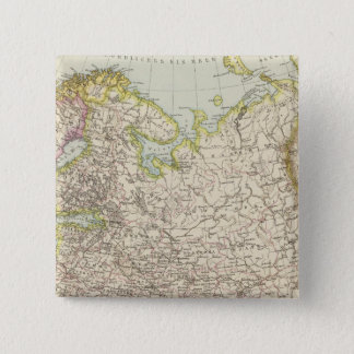 Europaisches Russland - Map of Europe and Russia 15 Cm Square Badge