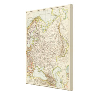 Europaisches Russland - Map of Europe and Russia Canvas Print