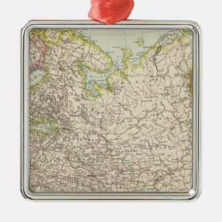 Europaisches Russland - Map of Europe and Russia Christmas Ornament
