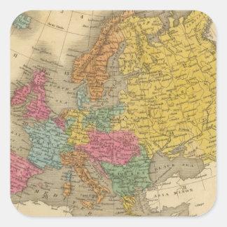 Europe 11 square sticker