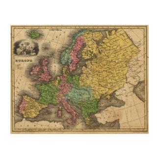 Europe 12 2 wood print