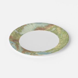Europe 18 2 paper plate