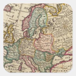 Europe 20 square sticker
