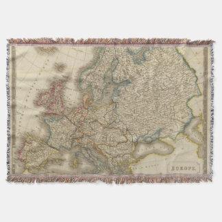Europe 22 throw blanket