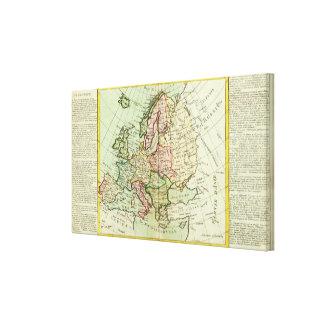 Europe 25 canvas print