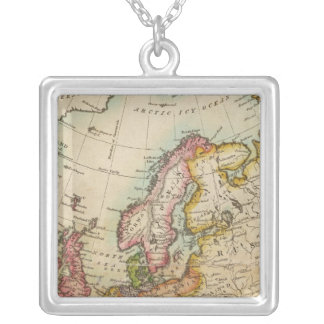 Europe 3 silver plated necklace