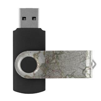 Europe 3 swivel USB 2.0 flash drive