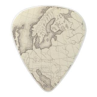 Europe 45 acetal guitar pick