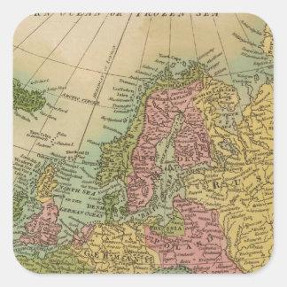 Europe 4 square sticker