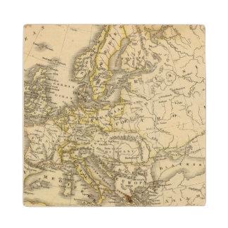 Europe 52 maple wood coaster