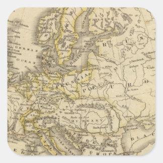 Europe 52 square sticker
