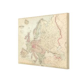 Europe 54 canvas print