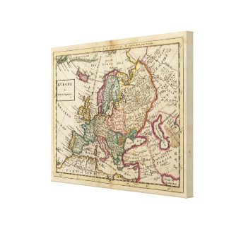 Europe 6 stretched canvas print