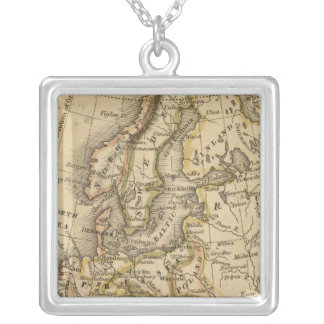 Europe 6 silver plated necklace