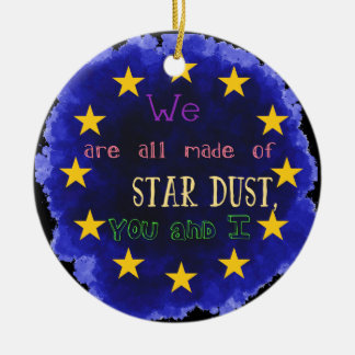 Europe - a star map christmas ornament