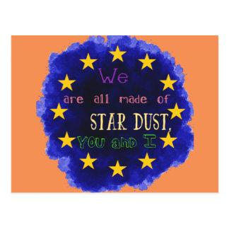 Europe - a star map postcard