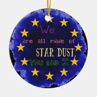 Europe - a star map round ceramic decoration