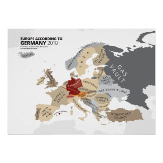 Europe According to Germany Poster