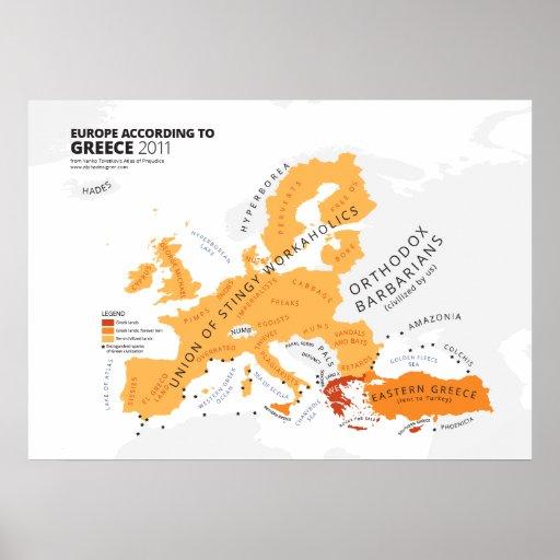 Europe According to Greece Print