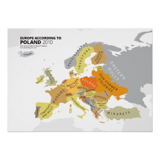 Europe According to Poland Posters