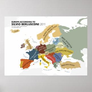 Europe According to Silvio Berlusconi Print