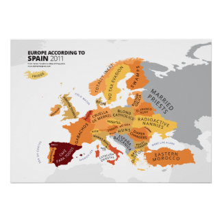 Europe According to Spain Poster