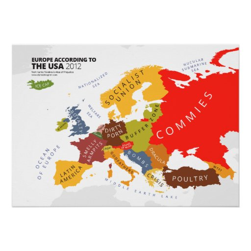 Europe According to the USA Posters