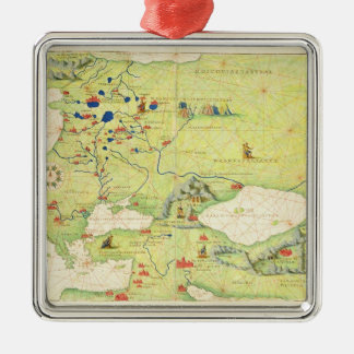 Europe and Central Asia Christmas Ornament