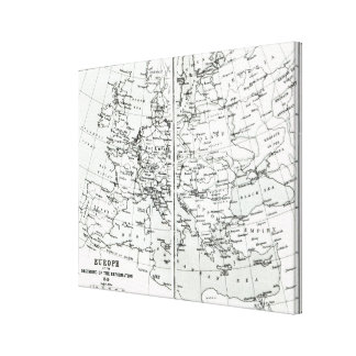 Europe, at the start of the Reformation Canvas Print