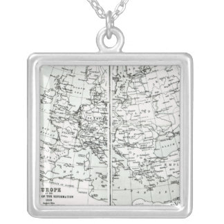 Europe, at the start of the Reformation Silver Plated Necklace