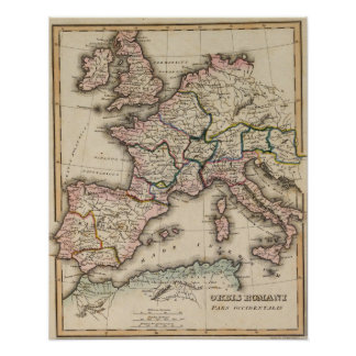 Europe Atlas Map Poster