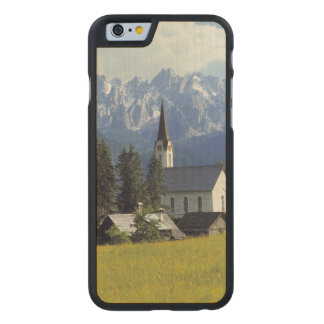 Europe, Austria, Gosau. The spire of the church Carved Maple iPhone 6 Case